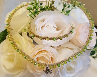 Spring Bloom Choker with matching Bracelet