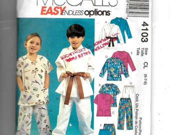 McCall's Boys' and Girls' Top, Shorts and Pants Pattern 4103