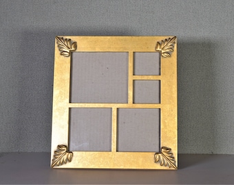 Photo Frame Multi Opening 4x4, 3x3, 2x2 Gold