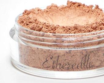 "Matte Nude Pink Blush - ""Ballerina"" (light nude pink blush Net Wt 4.5g jar) - Vegan Mineral Makeup, fair skin blush"