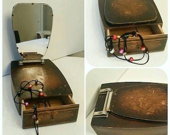 Antique trinket box jewelry box