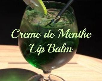 Mint lip balm-Creme de Menthe lip balm-Happy Hour - party favor Lip Balm