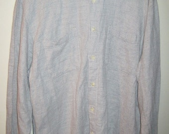VALENTINO CHEMISES Long Button Sleeve Shirt Sz Large Made in ITALY