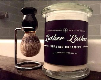 Luxe Artisan Shaving Set Brush and Microbatch Shave Cream