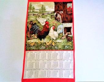 Vintage Calendar 1999 Tea Towel, Calendar dishtowel, calendar dishtowel, vintage calendar, Country Kitchen, Farmhouse Decor, 1999