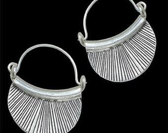 Silver Earrings - Silver Hoops - Gypsy Earrings - Tribal Earrings - Ethnic Earrings - Indian Earrings - Ttibal Hoops - Indian Hoops