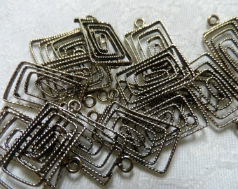 "Vintage gold plate  brass funky earring blanks,7/8th"",15pcs-ERG120"