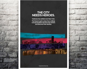 Teenage Mutant Ninja Turtles New York City poster print