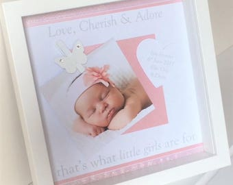 New Baby Personalised Photo Frame / New Baby Picture Frame / Baby Picture Frame / New Baby Gift / Baby Girl Gift