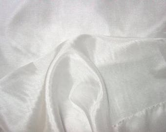 6 Yards White 100% Pure China Silk Fabric Lightweight Shiny Float EXTRA WIDE 55 Inches