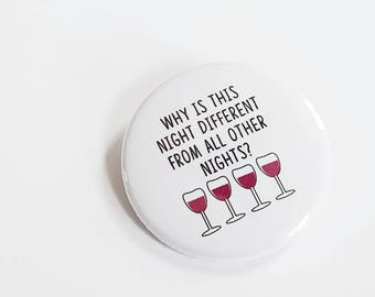4 Questions Passover Button