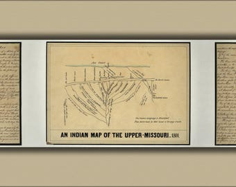 Poster, Many Sizes Available; Indian Map Of The Upper Missouri River, 1801