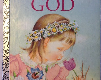 vintage Little Golden Book My Little Golden Book about God LGB hardback Eloise Wilkin 1994 edition E