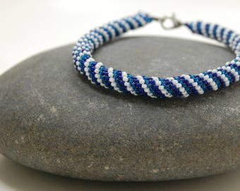 Peyote Bracelet, Bangle, Beaded Bracelet, Gift for Her, Handmade Jewelry, Mother's Day Gift, Beadwoven Bracelet, Summer Jewelry