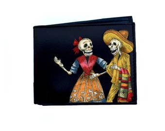 Leather Wallet Skeleton Couple #108