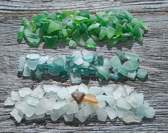 Tiny sea glass mix Beach glass Craft supplies Sea glass bulk Assorted sea glass Sea glass crafting Sea glass for sale Vase filler / 180+ cs