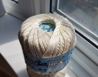 egyptian mercerised cotton -ecru