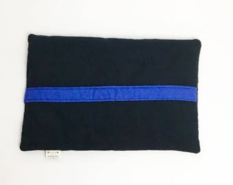 Thin Blue Line Heating Pad - Black, Blue -  Heating Pad - Thin Blue Line Collection