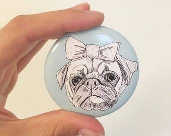 The Pretty Pug Pocket Mirror
