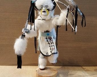 "Kachina Doll ""White Buffalo Warrior"""