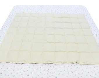 55x43 inches Baby White Goose Down Comforter, Hypoallergenic, Ideal for Summer