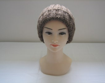 Natural 100% organic wool hat
