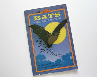 BATS Creatures of the Night Book, By Joyce Milton, 1993 Book