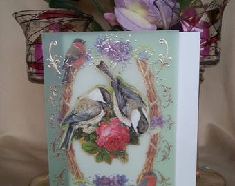 3d greeting Card Two little birds