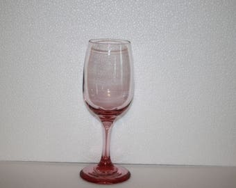 M4 Libbey ? Pink Premiere Wine Glass