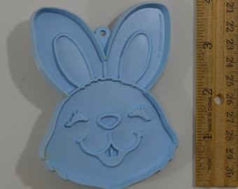 "Vintage HALLMARK EASTER BUNNY Cookie Cutter | 1980 3 7/8"" Blue"
