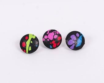 Splatter Lapel Button Series