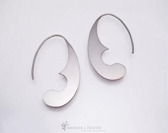 2D Sterling Silver Earring - Swallowtail