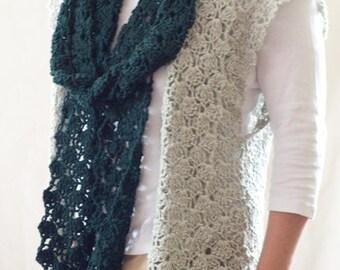 Crochet Pattern - Vest Pattern Scarf Pattern Easy Crochet Infinity Scarf Pattern Womens Vest Pattern Infinity Scarf - Shell Stitch P189