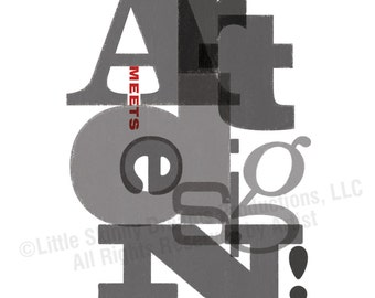 Art Meets Design!, (Cool Grays) 18 x 24 Tribute Art Print