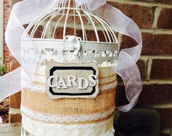 Wedding Card Bird Cage
