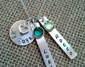 Personalized My Boys Necklace, Mom Necklace, Grandma Necklace, Custom Name Necklace, Gift For Mom, Family Necklace, Mothers Day Necklace
