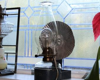 Antique Kerosene Lantern Wall Mount Country Farmhouse Decor Electrified