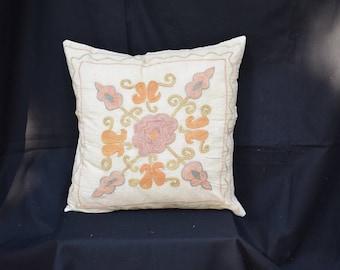 Suzani cotton pillow cover Organic pillow cover Embroidery pillow cover Set pillow cover Sofa pillow cover Couch pillow cover Bed pillow U-8