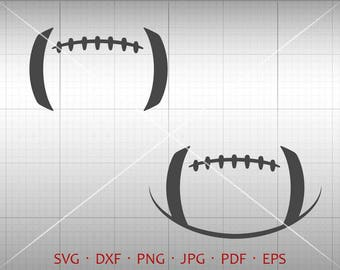 Football SVG, Football Lace SVG, Football Stitches SVG Clipart dxf Silhouette Cricut Cut File Vector Commercial Use