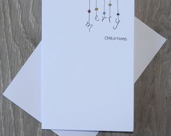 SALE - Merry Baubles Christmas Card - Hand Illustrated