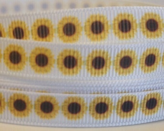 3/8 Sunflower Ribbon- 3 Yards