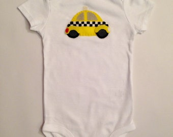 New York Taxi Baby Outifit/Baby Bodysuit or Toddler Shirt NY tourist gift - NYC