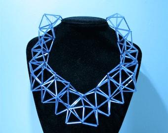 Light blue glass tubes necklace