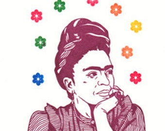 Frida Limited Edition Gocco Screenprint