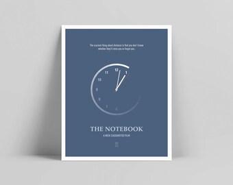 The Notebook - Minimalist Poster, The Notebook Poster, Minimalist Print, Gena Rowlands, James Garner, Rachel McAdams, Ryan Gosling