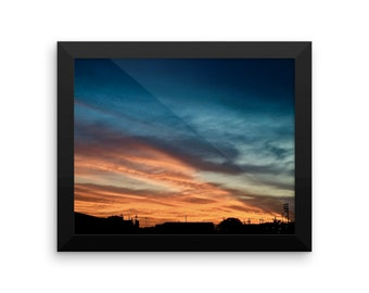 Dramatic Sunset in South Omaha Framed poster / Matte Finish Print