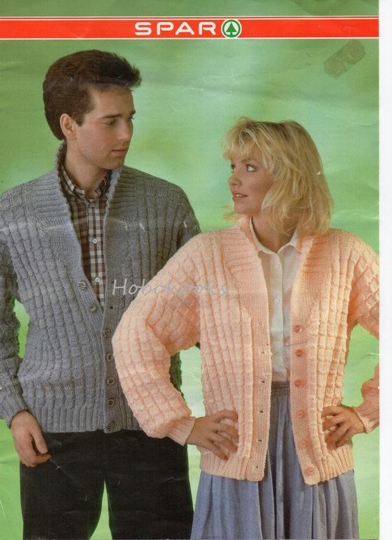 Womens Mens Cardigan Knitting Pattern Pdf Ladies Shawl Collar
