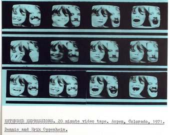 """Conceptual Art. """"Extended expressions"""", 1977. Offset by Dennis OPPENHEIM"""