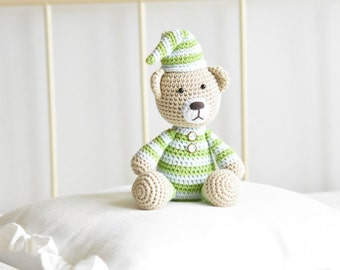 PATTERN - Pajamas teddy - crochet amigurumi pattern, PDF (English, Dutch)
