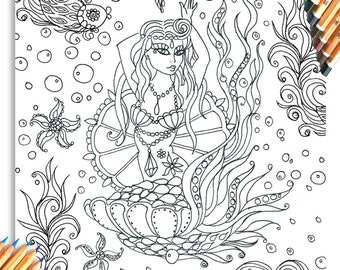 The Circus Girl Coloring Book Hand illustrated colouring